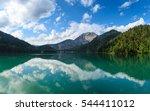 lake riza  abkhazia | Shutterstock . vector #544411012