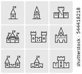 castles line icons | Shutterstock .eps vector #544418218