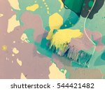 dirty brush on floor with... | Shutterstock . vector #544421482