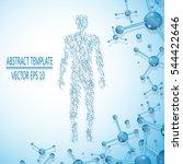 abstract molecule based human... | Shutterstock .eps vector #544422646