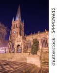wakefield cathedral  cathedral... | Shutterstock . vector #544429612