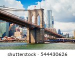 view of manhattan with famous... | Shutterstock . vector #544430626