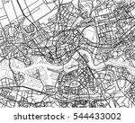 black   white vector map of... | Shutterstock .eps vector #544433002
