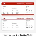red and white boarding pass ...
