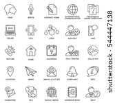 icons contact us. methods of... | Shutterstock .eps vector #544447138