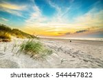 sand dunes against the sunset... | Shutterstock . vector #544447822