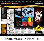 vector website layout | Shutterstock .eps vector #54445018
