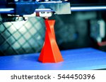 3d printer printing isolated... | Shutterstock . vector #544450396