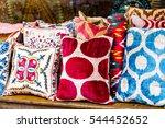 oriental cushions | Shutterstock . vector #544452652
