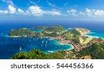 Overlook Of Island Town In...