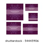 a set of holidays invitations ... | Shutterstock .eps vector #54445906
