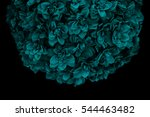 Teal Blue Bouquet Of Flowers...
