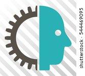cyborg head vector pictograph....   Shutterstock .eps vector #544469095