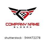 diamond wings design | Shutterstock .eps vector #544472278