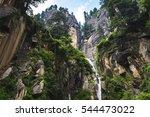 waterfall in vashisht is the...   Shutterstock . vector #544473022