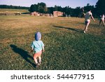 children walking on the street | Shutterstock . vector #544477915