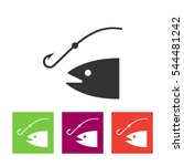fishing icon illustration.... | Shutterstock . vector #544481242