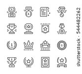 set line icons of award | Shutterstock .eps vector #544482262
