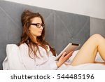 woman doing some late night... | Shutterstock . vector #544485196