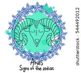 signs of the zodiac. horoscope... | Shutterstock .eps vector #544492012