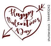happy valentine's day... | Shutterstock .eps vector #544493242