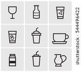 drinks line icons | Shutterstock .eps vector #544496422
