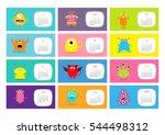 monster horizontal monthly... | Shutterstock .eps vector #544498312