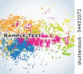grunge banner. vector. | Shutterstock .eps vector #54451072