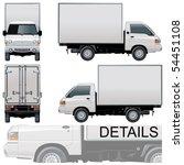 vector delivery   cargo truck | Shutterstock .eps vector #54451108