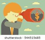 a businessman looks an island... | Shutterstock .eps vector #544515685