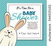 baby shower invitation with... | Shutterstock .eps vector #544525102