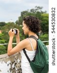tourist taking photos with... | Shutterstock . vector #544530832