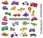doodle transportation design... | Shutterstock .eps vector #544531645