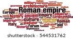 roman empire word cloud concept.... | Shutterstock .eps vector #544531762