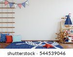 mock up wall in child room... | Shutterstock . vector #544539046