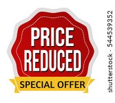 price reduced sticker or label... | Shutterstock .eps vector #544539352