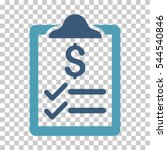 invoice pad icon. vector... | Shutterstock .eps vector #544540846