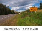 Caution Moose Sign
