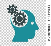 brain gears rotation icon.... | Shutterstock .eps vector #544544866