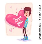 stylish and charming man... | Shutterstock .eps vector #544547515