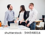 collaboration is a key to... | Shutterstock . vector #544548016