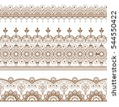 mehndi henna line lace element... | Shutterstock .eps vector #544550422