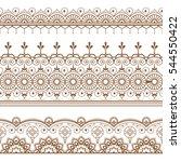 mehndi henna line lace element... | Shutterstock .eps vector #544550422