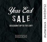 year end sale. vector... | Shutterstock .eps vector #544554712