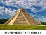pyramid in chichen itza  temple ...   Shutterstock . vector #544558666