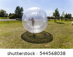child has a lot of fun in the...   Shutterstock . vector #544568038