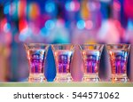 burning drinks in shot glasses... | Shutterstock . vector #544571062