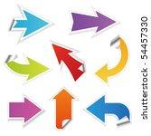 colored arrows vector | Shutterstock .eps vector #54457330