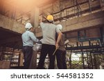 group business man construction ... | Shutterstock . vector #544581352