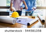 business man and construction... | Shutterstock . vector #544581358